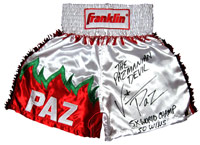 "Vinny ""Paz"" Pazienza Autographed Boxing Trunks"