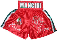 "Ray ""Boom Boom"" Mancini Autographed Red Boxing Trunks"