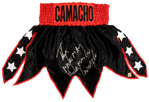 "Hector ""Macho"" Camacho Autographed Boxing Trunks"