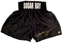 Sugar Ray Leonard Autographed Boxing Trunks