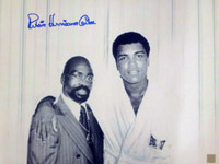 "Rubin ""Hurricane"" Carter Autographed 16x20 Photo With Muhammad Ali"