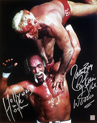 Nature Boy Ric Flair & Hollywood Hulk Hogan Autographed 16x20 Photo