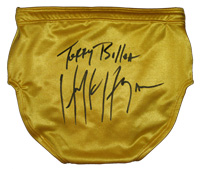 Terry Bollea Hulk Hogan Autographed Ring Issued Trunks
