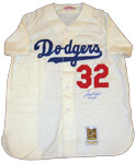 Sandy Koufax Signed Home Dodgers Jersey With 6/24/55 Inscription