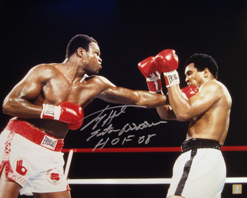 Larry Holmes Autographed 16x20 Photo vs Muhammad Ali