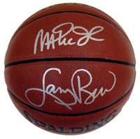 Magic Johnson and Larry Bird Autographed NBA Spalding Indoor/Outdoor Basketball