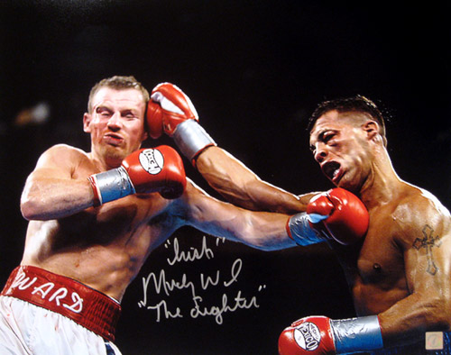 """Irish"" Micky Ward Signed 16x20 Photo vs Arturo Gatti"