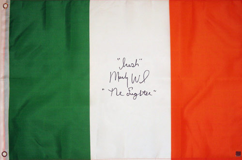 """Irish"" Micky Ward Signed Ireland Flag"