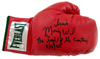 """Irish"" Micky Ward Signed Everlast Boxing Glove With ""Fight of The Century 5/18/02"" Inscription"