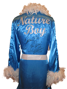 Ric Flair Autographed Baby Blue Wrestling Robe