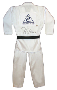 Royce Gracie Signed White Gi