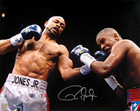 Roy Jones Jr. Signed 16x20 Photo vs Felix Trinidad