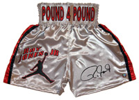 Roy Jones Jr. Signed Silver Boxing Trunks