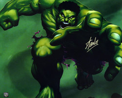 Stan Lee Autographed Incredible Hulk 16x20 Photo