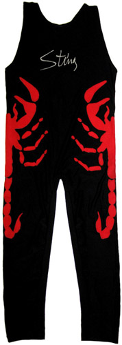 Sting Autographed Full Size Red Scorpion Tights