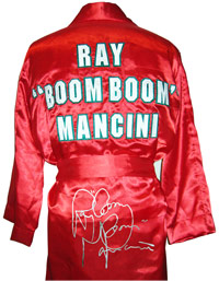 "Ray ""Boom Boom"" Mancini Autographed Red Boxing Robe"
