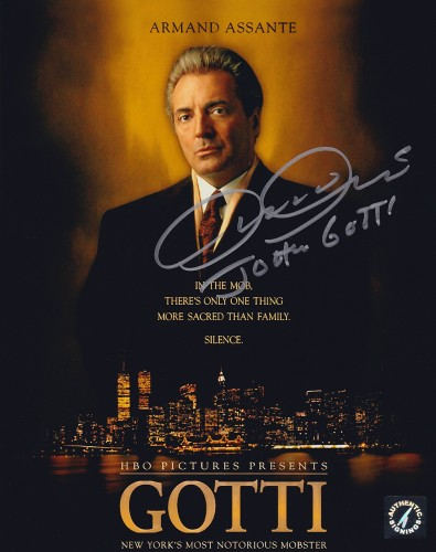 "Armand Assante ""John Gotti"" Autographed GOTTI 8x10 Photo"