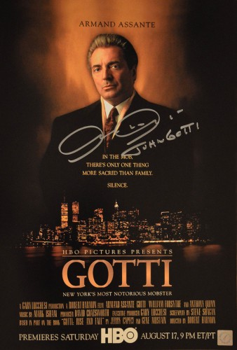 "Armand Assante ""John Gotti\"" Autographed GOTTI 11x17 Mini Movie Poster"