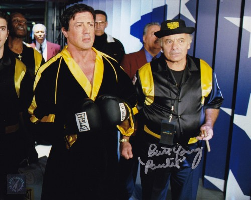 Burt Young Autographed ROCKY BALBOA Ring Walk 8x10 Photo