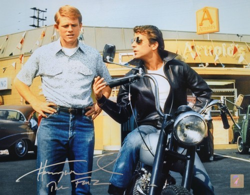 "Henry Winkler ""The Fonz"" Happy Days Autographed 11x14 Photo w/ Richie Cunningham"