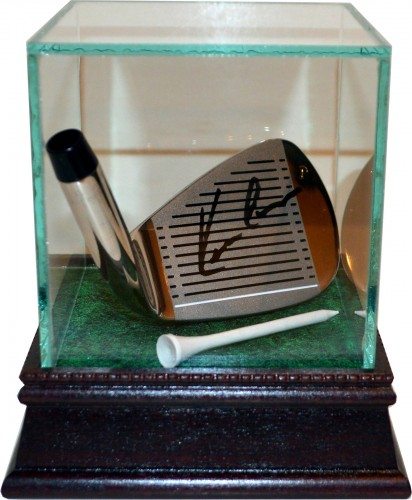 Kevin Costner Autographed Golf Head with Glass Display Case