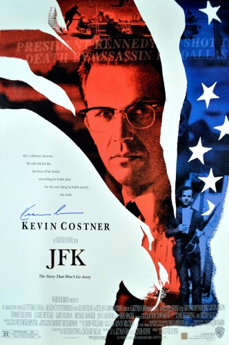 Kevin Costner Autographed JFK 27x40 Movie Poster