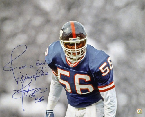 "Lawrence Taylor ""LT WAS A BAD MOTHERFUCKER"" Autographed New York Giants 16x20 Photo"