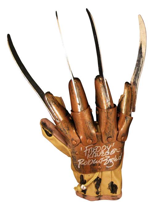 robert englund autographed freddy krueger glove