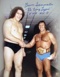 "Bruno Sammartino Autographed 16x20 Photo With ""The Living Legend & WWE HOF 13"" Inscription"