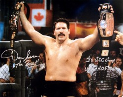 "Dan Severn ""The Beast"" Signed 16x20 Photo"