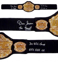 "Dan Severn ""The Beast"" Signed UFC Replica Heavyweight Championship Belt"