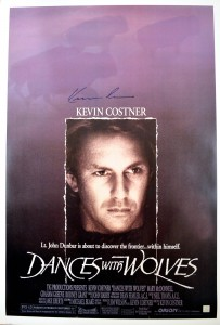 Kevin Costner Autographed Dances With Wolves 26x37 Movie Poster