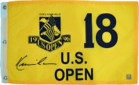 Kevin Costner Autographed Tin Cup 1996 US Open Oakland Hills Pin Flag