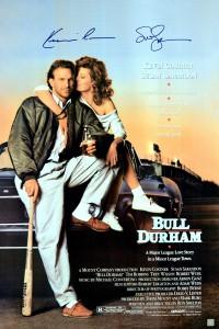 Susan Sarandon & Kevin Costner Autographed Bull Durham 24x36 Movie Poster