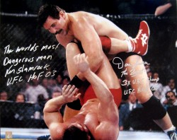 "Dan Severn & Ken Shamrock ""The Beast"" Signed 16x20 Photo"