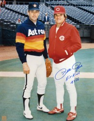 Pete Rose w/ Nolan Ryan Autographed 16x20 Photo