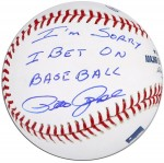 "Pete Rose Autographed MLB Baseball With ""I Am Sorry I Bet On Baseball"" Inscription"
