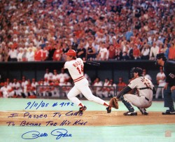 Pete Rose Hit 4192 Autographed 16x20 Photo