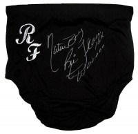 """Nature Boy Ric Flair 16X Wooooo"" Autographed Black Wrestling Trunks"