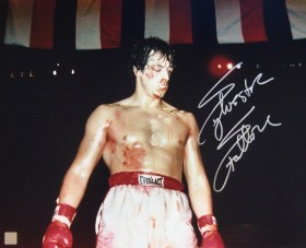 "Sylvester Stallone Autographed ROCKY 16x20 Photo ""COVERED IN BLOOD"""