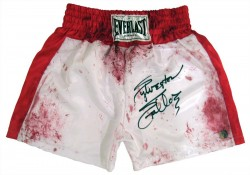 Sylvester Stallone Autographed ROCKY Blood Boxing Trunks