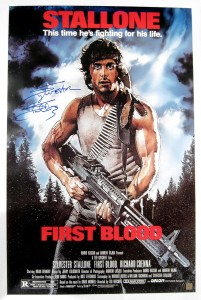 Sylvester Stallone Autographed FIRST BLOOD 24x36 Movie Poster