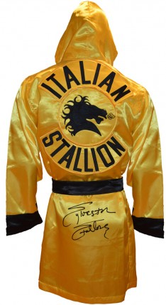 Sylvester Stallone Autographed ROCKY III Italian Stallion Boxing Robe