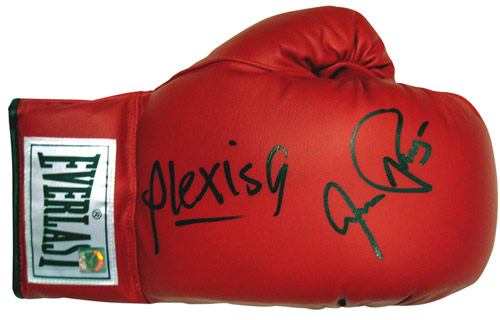 Aaron Pryor & Alexis Arguello Autographed Everlast Boxing Glove