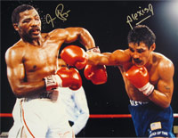 Aaron Pryor & Alexis Arguello Signed 16x20 Photo