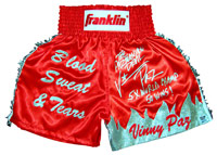 "Vinny ""Paz"" Pazienza Autographed Blood, Sweat & Tears Boxing Trunks"