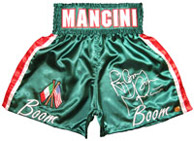 "Ray ""Boom Boom"" Mancini Autographed Green Boxing Trunks"