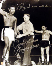 Jake LaMotta Signed 16x20 Photo With
