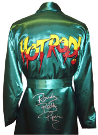 Rowdy Roddy Piper Autographed Boxing Robe