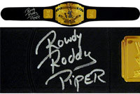 Rowdy Roddy Piper Autographed Replica Intercontinental Championship Belt